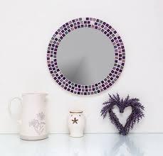 mosaic wall mirror in lilac purple