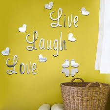 Decals Stickers Vinyl Art Home Garden Live Laugh Love Quote Removable Wall Stickers Mirror Decal Art Room Decor Clever Adrp Fournitures Fr