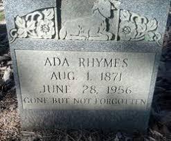 Ada Barnes Rhymes (1871-1956) - Find A Grave Memorial