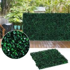 Outsunny 12 Piece 20 X 20 Artificial Boxwood Hedge Mat Plant Panels Greenery Walls Artificial Boxwood Plant Panel More Garden Aosom