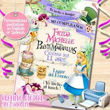 Alicia En El Pais De Las Maravillas Invitacion Wonderland