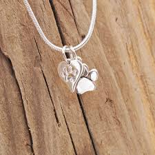 sterling silver tiny dog cat paw print
