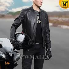 cwmalls mens leather motorcycle jacket
