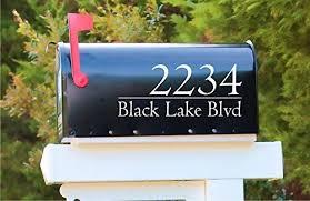 Amazon Com Modern Mailbox Address Number Decal Sticker Home Kitchen