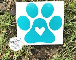 Paw Print Car Decal Etsy