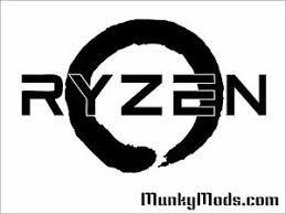Amd Ryzen Logo Computer Pc Case Window Applique Vinyl Decal Color Choices Ebay
