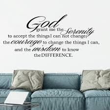 God Grant Serenity Prayer Vinyl Wall Decal Quotes Wall Stickers Religious Decals Home Decor Decals Wl639 Wall Stickers Aliexpress