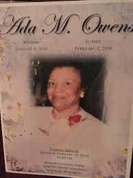 Ada Owens Obituary - Memphis, Tennessee | Legacy.com