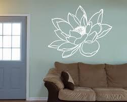 Water Lily Flower Vinyl Decals Modern Wall Art