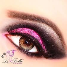 hot pink eye makeup for gorgeous las