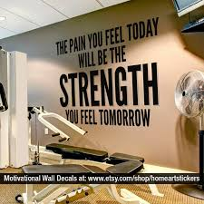 Exercise Stickers Gym Wall Decal Workout Stickers Etsy
