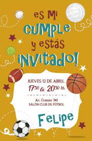 30 Invitaciones Futbol Deporte P Cumpleanos 600 00 En