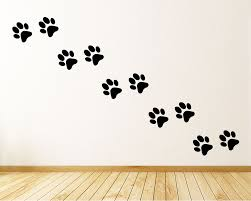dog paw print wall decals decals