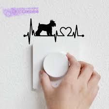Schnauzer Car Dog Switch Sticker Posters Vinyl Wall Art Decals Decor Mural Pet Clinic Shop Decal Grooming Salon Sticker Wall Stickers Aliexpress