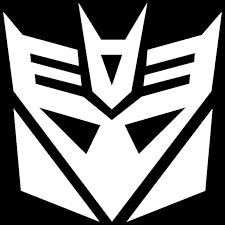 2x White Transformers Decepticon Vinyl Decal Sticker Car Hood Window Laptop Ipad Walmart Com Walmart Com