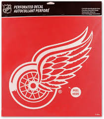 Amazon Com Detroit Red Wings Perforated 17x17 Decal Sports Outdoors