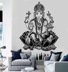 Wall Decal Buddha Lord Ganesha Indian God Buddhism Vinyl Sticker Z2872 Ebay