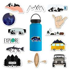 For 14 Pack Outdoors Water Bottle Stickers Waterproof Vinyl Stickers Water Bottles Decal Stickers National Park Sticker Stickers Aliexpress