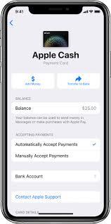add money to apple cash apple support