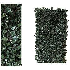 Artificial Ivy Screening On Willow Trellis 2 X 1 M Fence Hedge Maple Leaf Expanding Garden Cover Wooden Amazon Co Uk Garden Outdoors