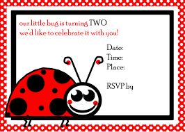 Ladybug Segundo Cumpleanos Invitar Stock De Foto Gratis Public