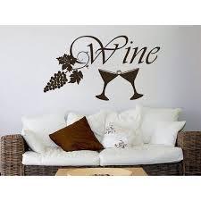 Shop Wine Grapes Stemware Vinyl Sticker Decals Kitchen Cafe Canteen Home Decor Design Sticker Decal Size 48x65 Color Black Overstock 14084700