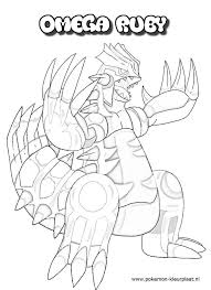 Primal Groudon Coloring Page Omega Ruby And Alpha Sapphire