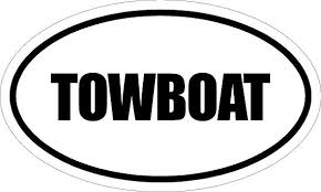 Amazon Com Beach Graphic Pros 6 Printed Euro Style Oval Towboat Decal Sticker Decor Impact Font Style Home Kitchen