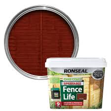 Ronseal Red Cedar Matt Shed Fence Stain 9l Departments Diy At B Q
