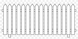 Picture Royalty Free Download Fence Clip Black And White Picket Fence Clipart Png Download 348882 Pikpng