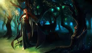 magic deer mage staff fantasy s elf