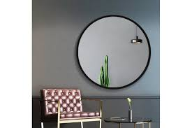 wall mirror round frameless polished
