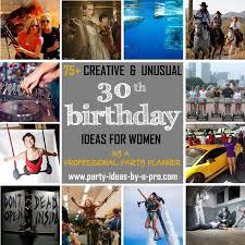 creative 30th birthday ideas for women