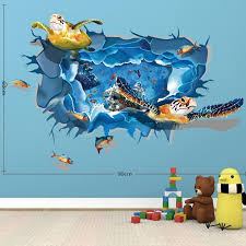 Laima Qt0313 3d Sea Turtle Group Wall Sticker Sale Price Reviews Gearbest