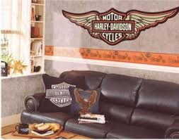 Harley Davidson Wallpaper Borders Wall Decals And Murals Harley Davidson Wallpaper Harley Davidson Decor Harley