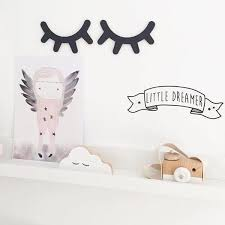 Room Decor Wood Eyelashes Wall Stickers Fashion For Your Kids