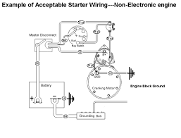 starter motor wiring with mag switch