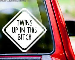 Kids Up In This Bitch Vinyl Sticker Car Window Truck Minivan Die Cut Decal Minglewood Trading