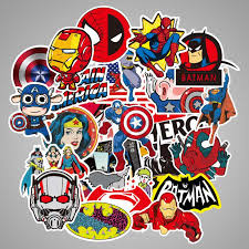 100 Pcs Marvel Superhero Stickers The Avengers Sticker For Luggage Laptop Decal Toys Bike Car Motorcycle Phone Snowboard Doodle Buy At The Price Of 5 00 In Aliexpress Com Imall Com