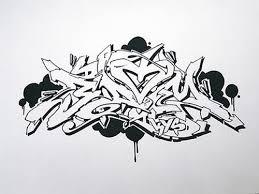 wildstyle graffiti drawing at