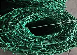 Pvc Coated Pe Coated Security Barbed Wire Barbed Wire Wall Price Per Roll