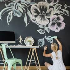 Roommates Chalkboard Vinyl Peelable Wallpaper Covers 28 18 Sq Ft Rmk10969wp The Home Depot
