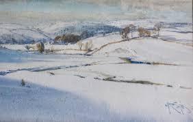 Arthur Reginald Smith Watercolour ' Snowy Winter Landscape in the ...