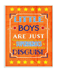 The Kids Room By Stupell Little Boys Are Just Superheroes In Disguise Textual Art Wall Plaque 11 X 0 5 X 1 In 2020 Wall Plaques Art Wall Kids Kid Room Decor