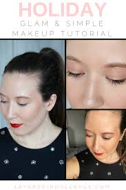glam and simple holiday makeup look