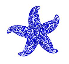 Starfish Henna Style Decal Custom Vinyl Car Truck Window Sticker Customvinyldecals4u
