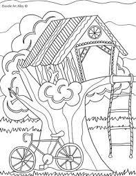 Kleurplaat Hut Zomer Kleurplaten Hut En Kleurplaten Voor