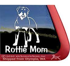 Amazon Com Rottie Mom Rottweiler Vinyl Window Auto Decal Sticker Automotive