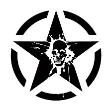 Qypf 15 7 15 7cm Coolest Punisher Splatter Skull Tailgate Hood Window Decal Graphic Decoration Car Sticker Vinyl C16 0101 Car Stickers Aliexpress