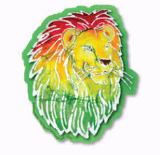 Batik Rasta Lion Roots Reggae Decal Sticker Sunnyside Gifts